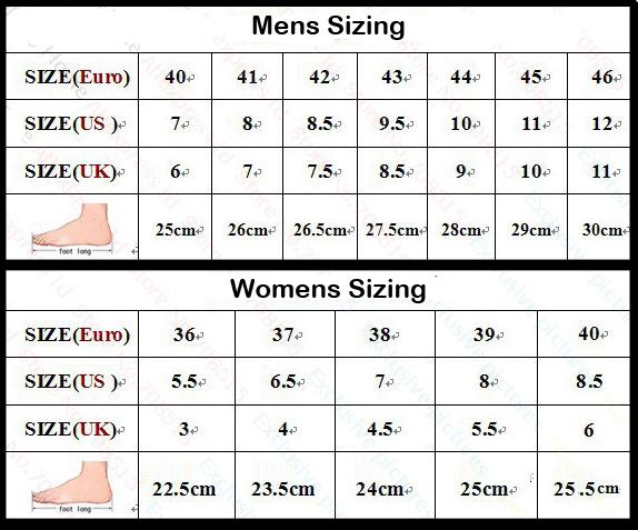 Adidas Nike Shoe Size Chart
